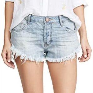 One Teaspoon Denim Cut Off Shorts
